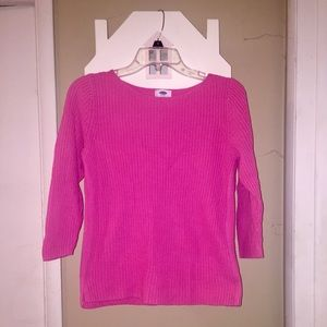 Old Navy Pink Cotton Sweater XS NWOT